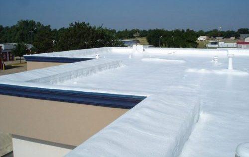 Spray foam roofing.