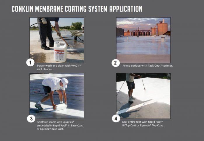 EPDM & membrane restoration process.