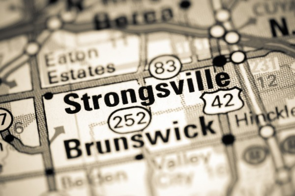 Strongsville OH on a map.
